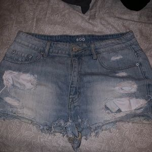 BDG urban outfitters high waisted denim shorts‼️